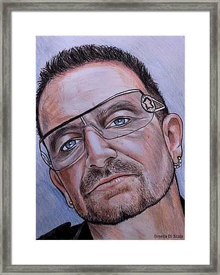 Bono Vox Portrait Framed Print by Ornella Di Scala