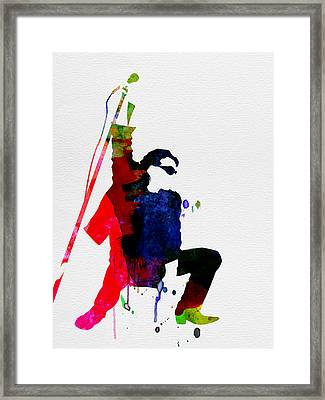 Bono Watercolor Framed Print by Naxart Studio