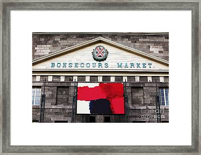 Bonsecours Market Framed Print by John Rizzuto