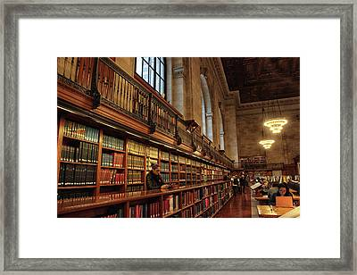 Book Browsing Framed Print by Jessica Jenney