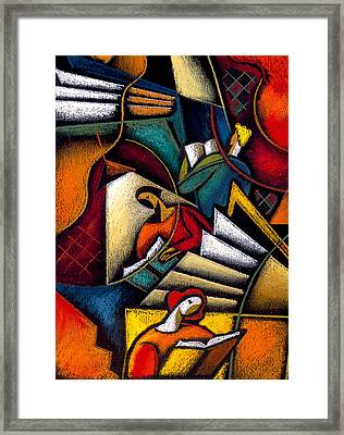 Book Framed Print by Leon Zernitsky