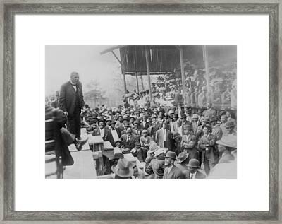 Booker T. Washington Addressing Framed Print by Everett