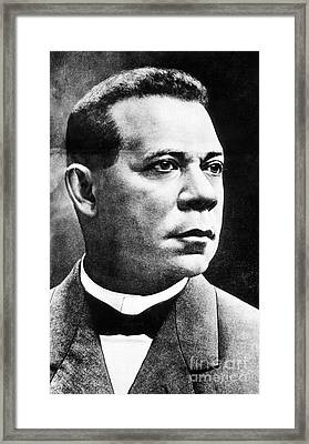 Booker T. Washington, African-american Framed Print by Photo Researchers