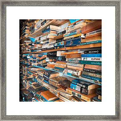 Books Framed Print by Kelly Jade King