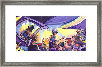 Boombox At The Barkley Framed Print by David Sockrider
