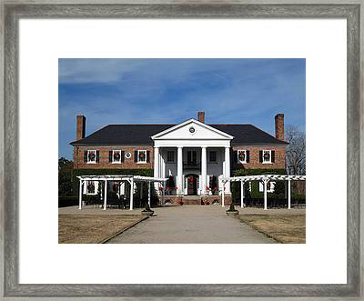 Boone Hall Plantation Charleston Sc Framed Print by Susanne Van Hulst