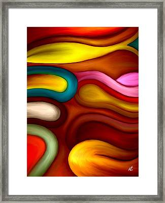 Loops Framed Print by Rafi Talby