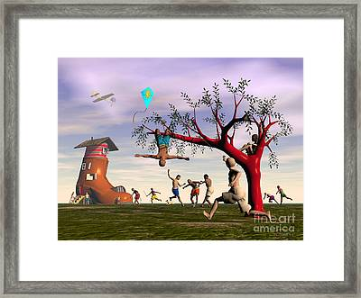 Boot Camp Framed Print by Walter Oliver Neal