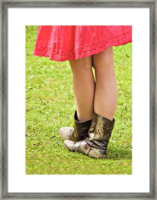 Boot Scootin' Framed Print by Meirion Matthias