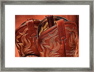 Boot Straps  Framed Print by JW Hanley