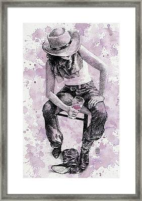 Boots Off   Evening On Framed Print by Debra Jones