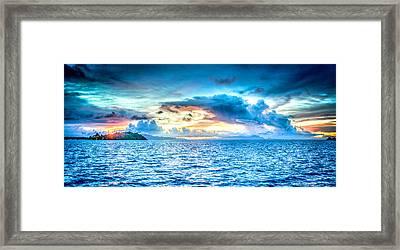 Bora Bora Sunset Framed Print by Design Turnpike