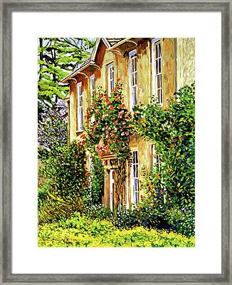 Bordeaux Garden House Framed Print by David Lloyd Glover