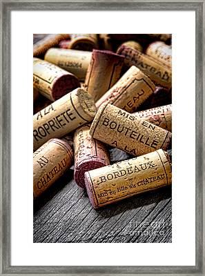 Bordeaux Framed Print by Olivier Le Queinec