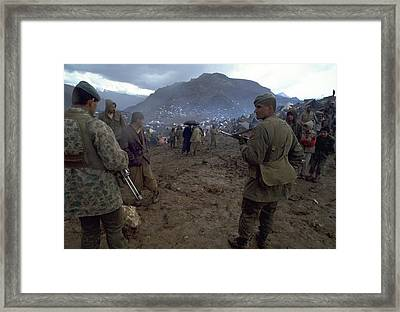 Framed Print featuring the photograph Border Control by Travel Pics