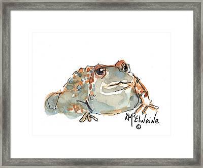 Boreal Chorus Frog Framed Print by Kathleen McElwaine