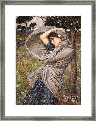 Boreas Framed Print by John William Waterhouse