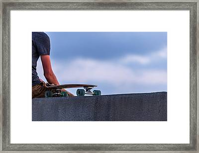 Bored Board Framed Print by Peter Tellone