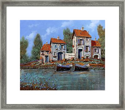 Borgo Viola Framed Print by Guido Borelli
