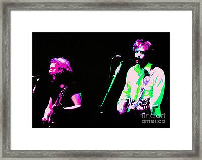 Grateful Dead - Born Cross Eyed Framed Print by Susan Carella