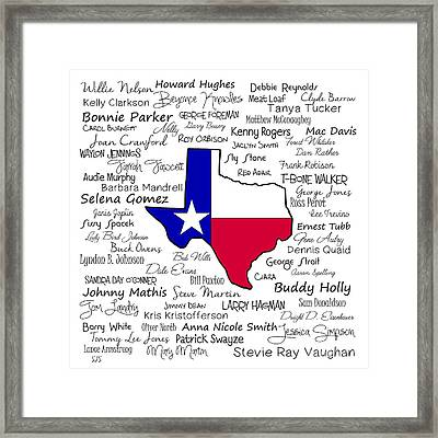 Born In Texas Framed Print by Shirley Stalter