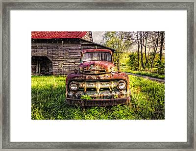 Born In The Usa Framed Print by Debra and Dave Vanderlaan