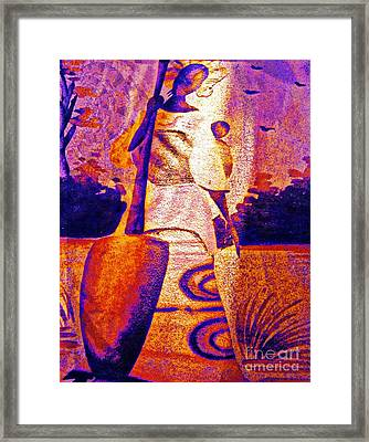 Born To Work Framed Print by Fania Simon