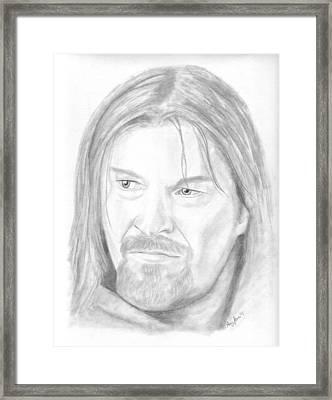 Boromir Framed Print by Amy Jones