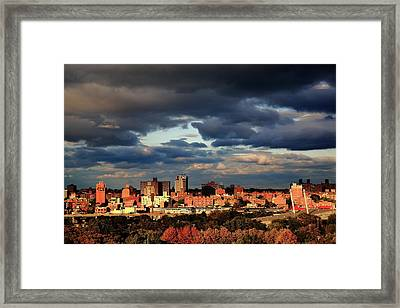 Borough Of Queens New York City Framed Print by Frank Romeo