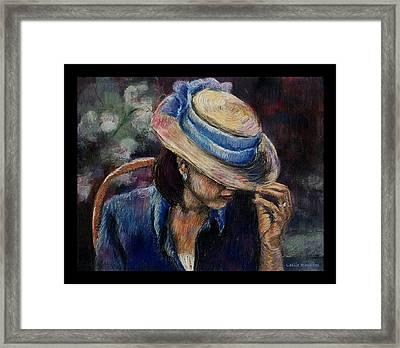 Borrowed Impressions Framed Print by Leslie Rhoades