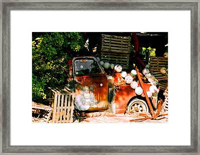 B.o.'s Fish Wagon In Key West Framed Print by Susanne Van Hulst