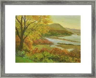 Boscobel View Autumn Framed Print by Phyllis Tarlow