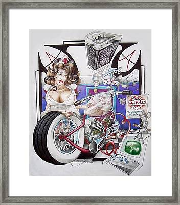 Bosley's Chop Framed Print by Jason Hunt