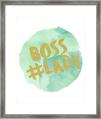 Boss Lady Framed Print by Donna Gilbert