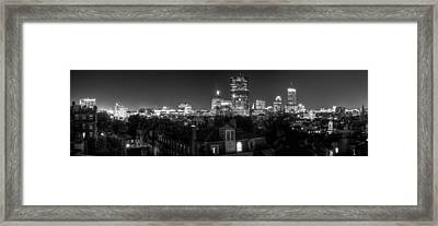Boston After Dark Framed Print by Andrew Kubica
