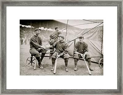 Boston Baseball Players   Gowdy, Tyler, Connolly Framed Print by American School