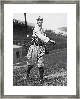 Boston Braves' Fred Snodgrass Framed Print by Underwood Archives