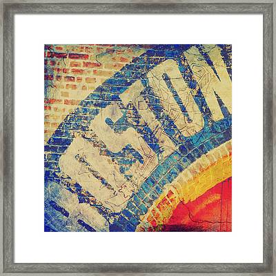Boston Bricks Framed Print by Brandi Fitzgerald