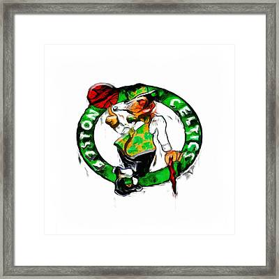 Boston Celtics 2b Framed Print by Brian Reaves