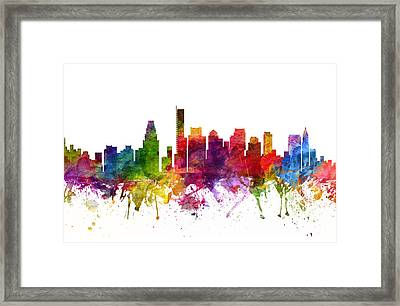 Boston Cityscape 06 Framed Print by Aged Pixel