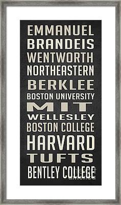 Boston Colleges Poster Framed Print by Edward Fielding