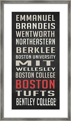 Boston Collegetown Framed Print by Edward Fielding