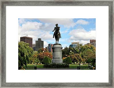 Boston Common Framed Print by DJ Florek