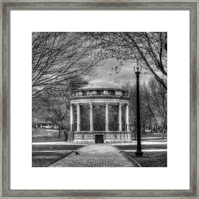 Boston Common Rotunda - Black And White Square Framed Print by Joann Vitali