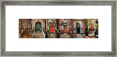 Boston Doorways Framed Print by Joann Vitali