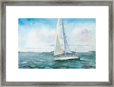 Boston Harbor Islands Framed Print by Laura Lee Zanghetti