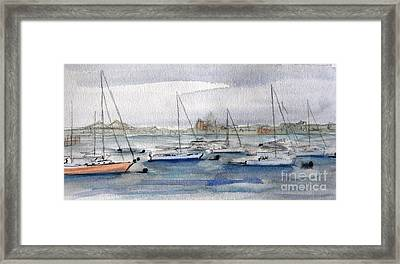 Boston Harbor  Framed Print by Julie Lueders