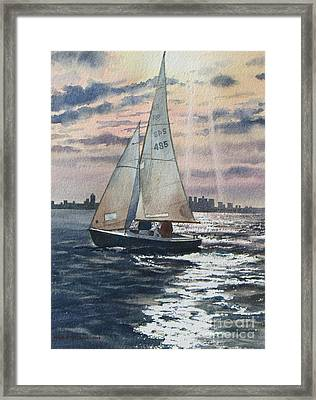 Boston Harbor Framed Print by Karol Wyckoff