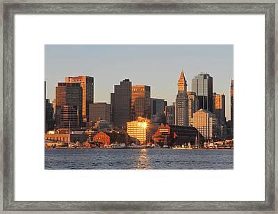 Boston Harbor Morning Bliss Framed Print by Juergen Roth