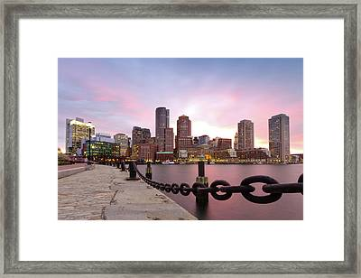 Chains Framed Print featuring the photograph Boston Harbor by Photo by Jim Boud